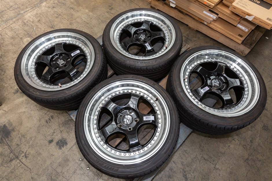 Set of 4 x HUSSLA 18x8.5J Wheels with Tyres