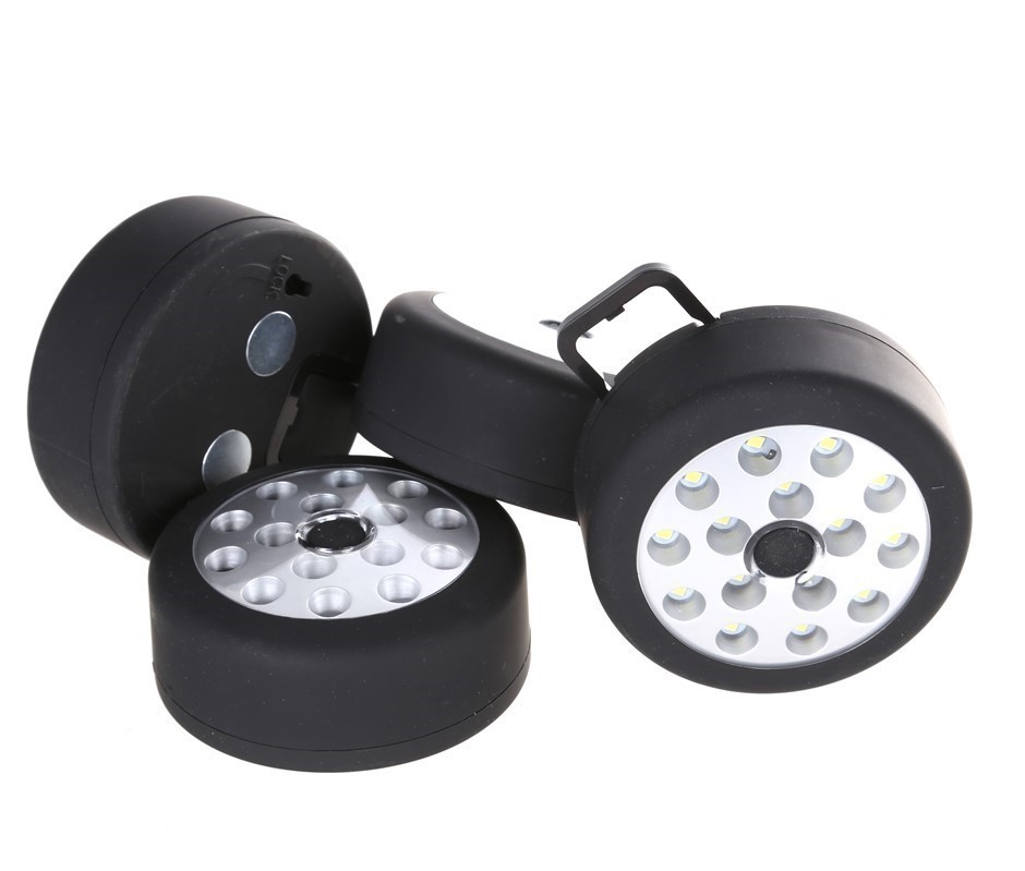 4 x LED Camping Lights with Hanging Hook & Magnetic Base 80mm Dia. Buyers N