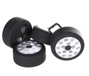 4 x LED Camping Lights with Hanging Hook