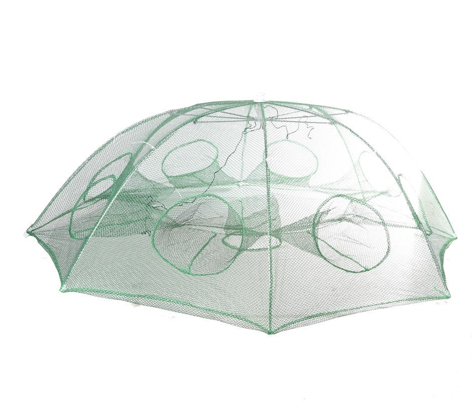 Hexagon Folding Fishing Trapping Net with 8 Entries. Buyers Note - Discount