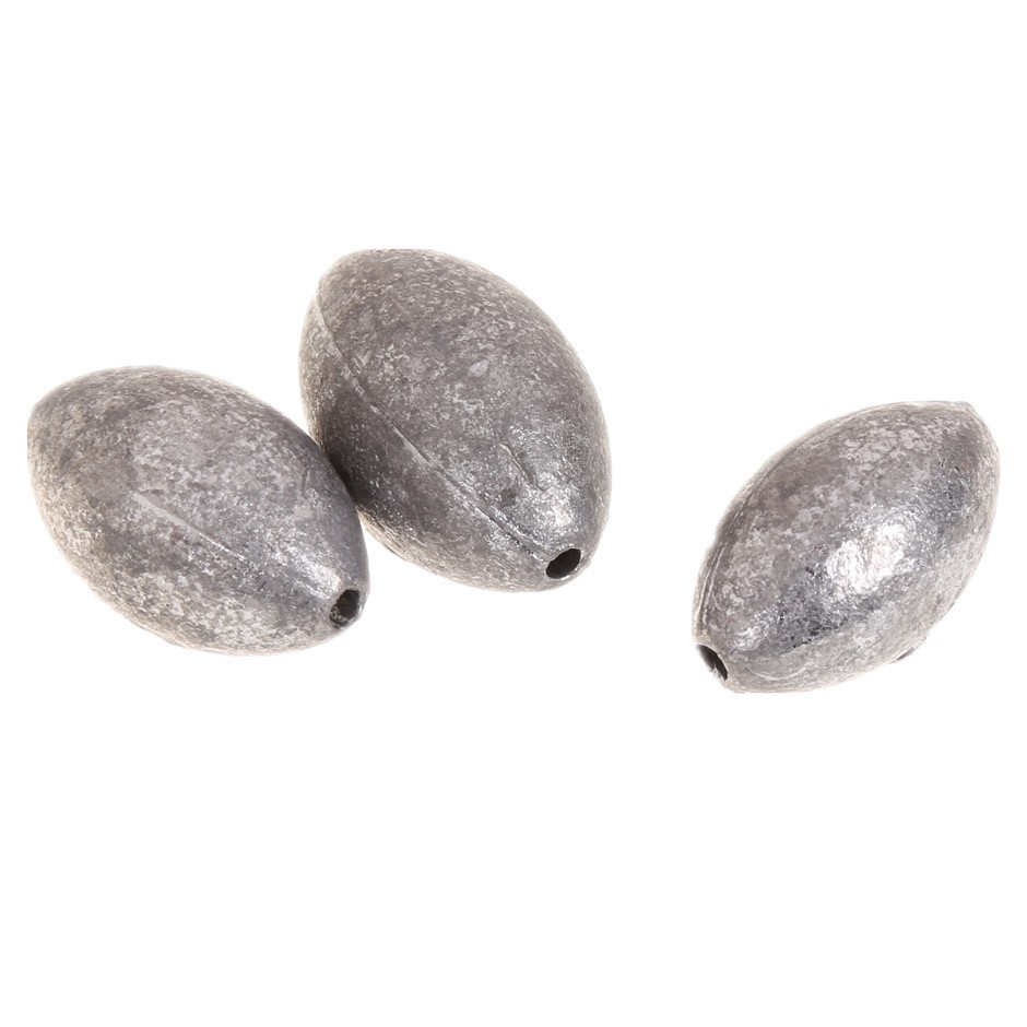 20pc Egg Shaped Fishing Sinkers, Sizes 20, 30, 40, 50, 60 grams. Buyers Not