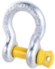 2 x Bow Shackles, WLL 4.7T, Screw Pin Type, Grade S. Yellow Pin. Buyers Not
