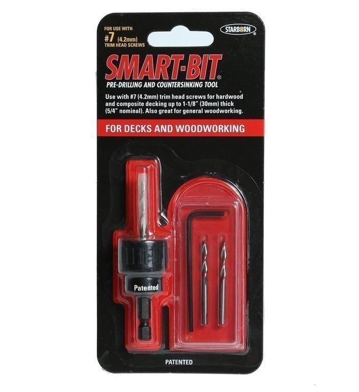 6 x SMART-BIT #7 Pre-Drilling & Countersinking Wood Tools. (SN:BDA140-K6) (