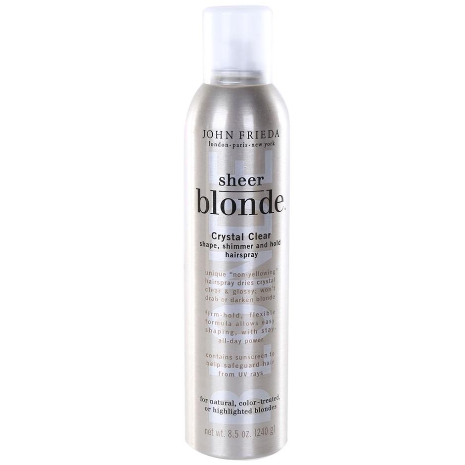 6 x JOHN FRIEDA Sheer Blonde Crystal Clear Hairsprays 240g for Natural, Col