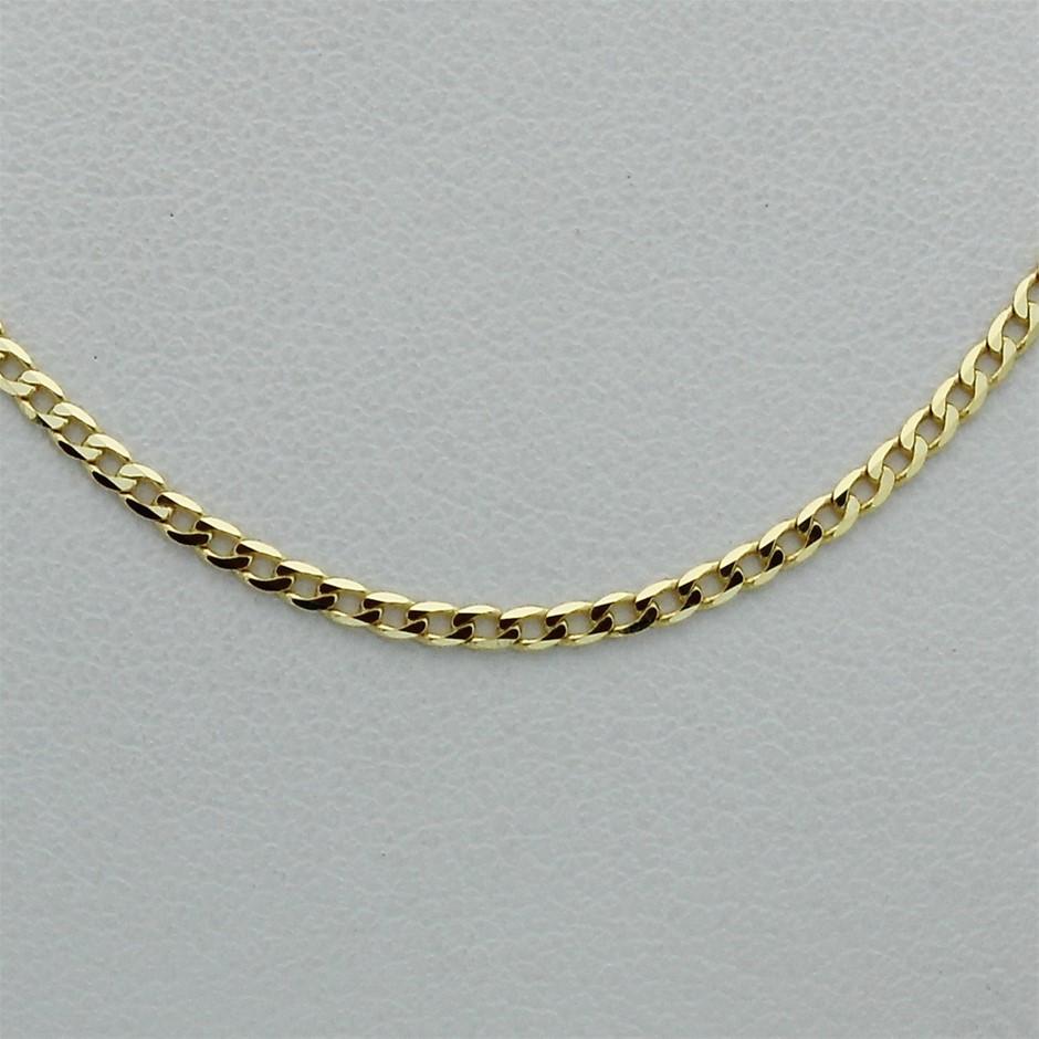 Genuine Italian 9 Karat Yellow Gold 45 cm chain necklace