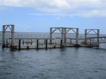 Large Industrial Marine Pontoon Structure