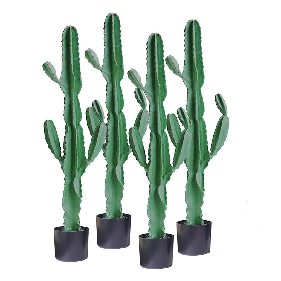 SOGA 4X 120cm Artificial Cactus Tree Fake Plant Simulation 6 Heads