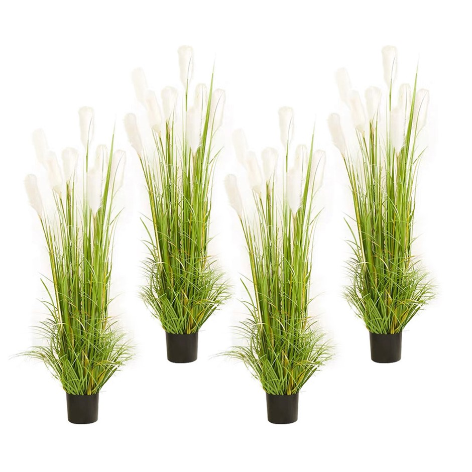 SOGA 4X 150cm Artificial Potted Reed Grass Tree Fake Plant Simulation