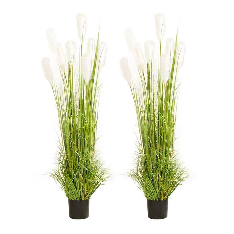 SOGA 2X 120cm Artificial Potted Reed Grass Fake Plant Simulation Decor