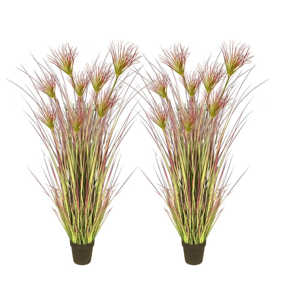 SOGA 2X 150cm Artificial Potted Papyrus Plant Fake Simulation Decor