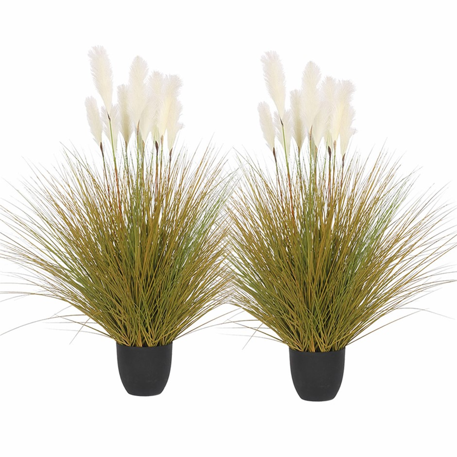 SOGA 2X 137cm Artificial Potted Reed Bulrush Grass Fake Plant Décor
