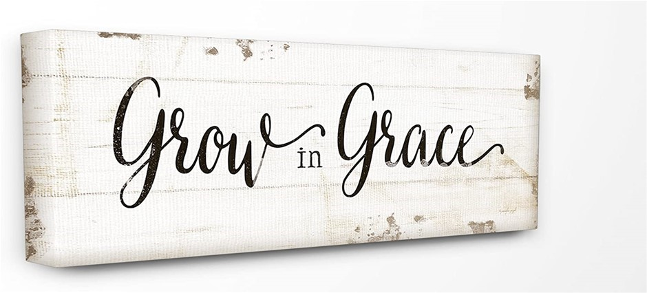 THE STUPELL HOME DÉCOR COLLECTION 10 x 24 Inches Grow in Grace Canvas Wall