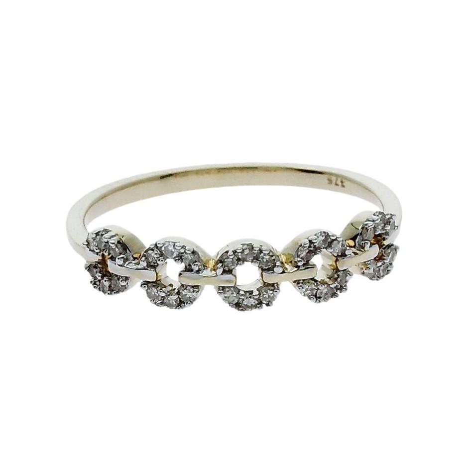 9ct Yellow Gold, 0.17ct Diamond Ring