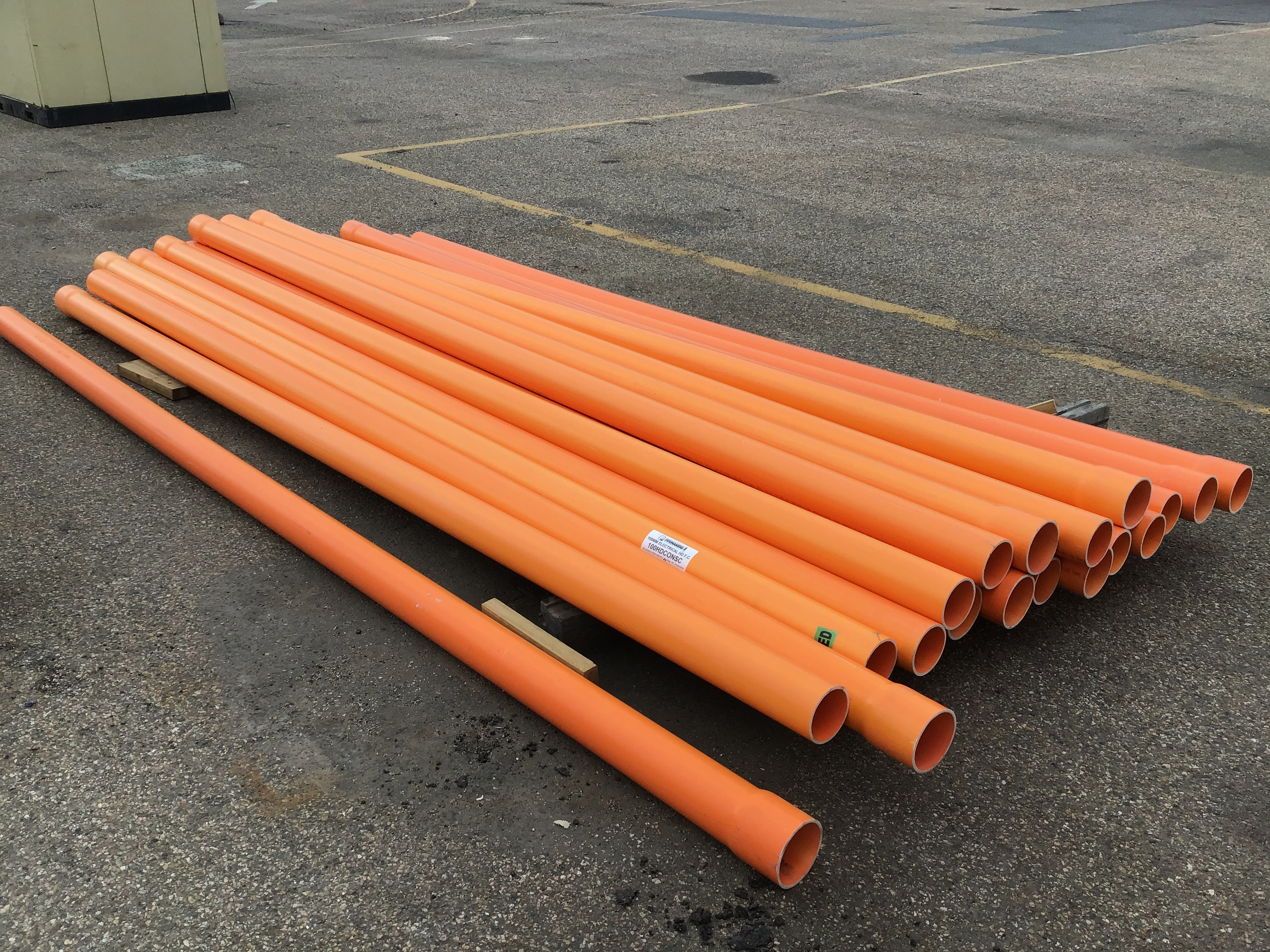 Qty 19 x PipeMakers 100mm Electrical HD F.C Pipes