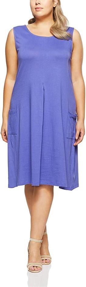 MY SIZE Women`s Plus Size Broome Pleat Front Dress, Size S, Color Lilac. Bu