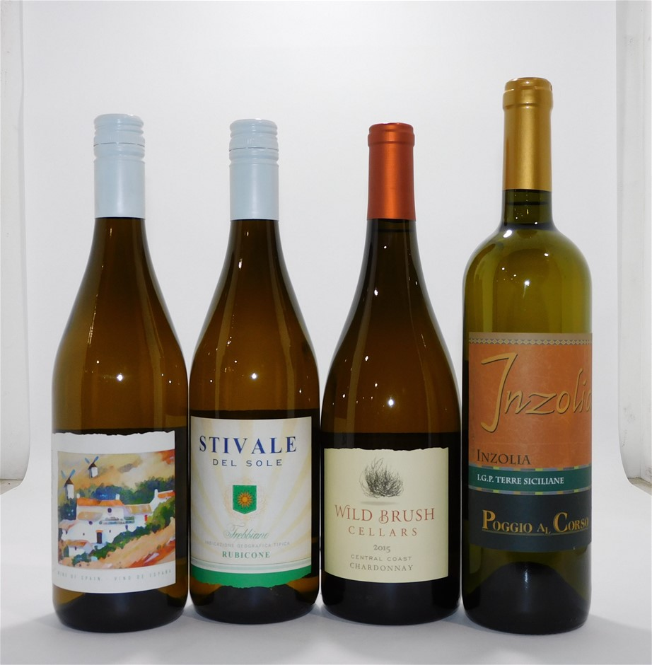 Mixed Pack of Imported White Wine (12x 750mL)
