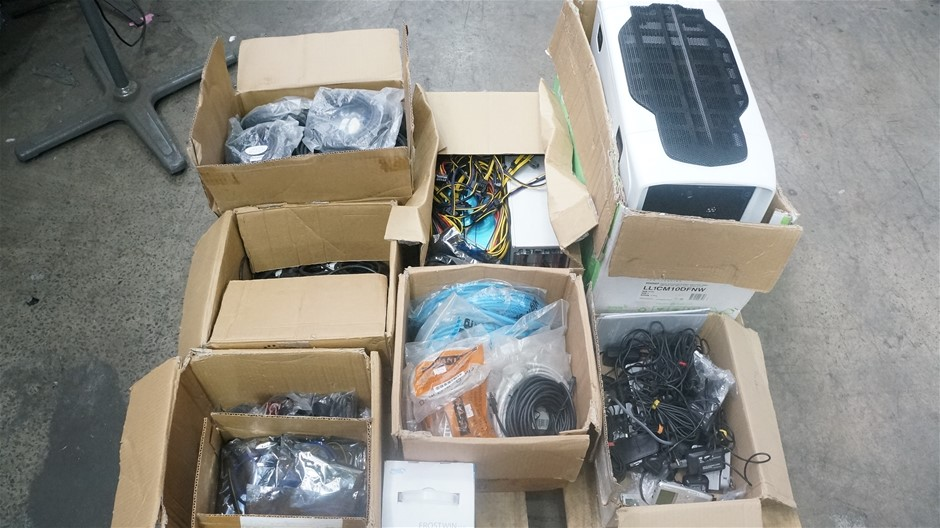 Pallet of Assorted Computer Hardware and Accessories