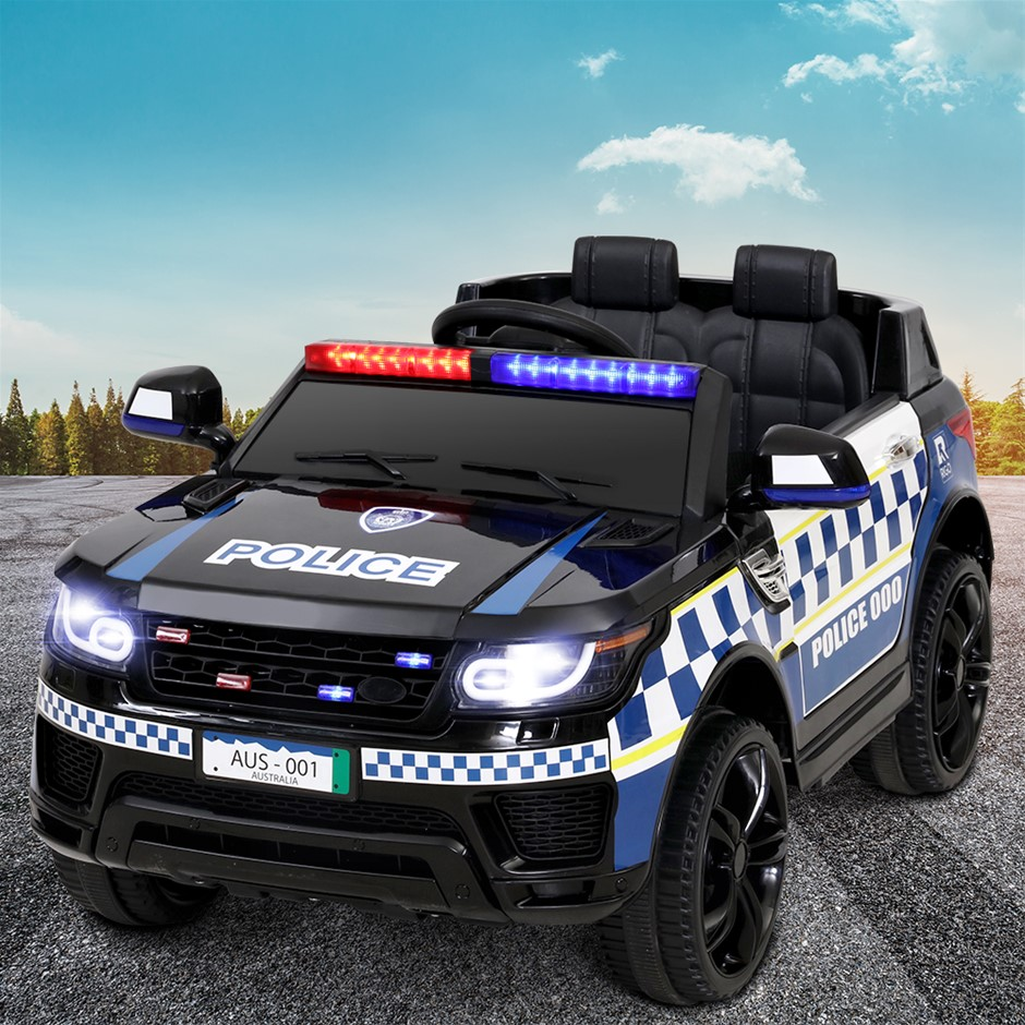 Rigo Kids Ride On Car Inspired Patrol Police Electric Powered Toy Cars