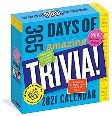 2 x WORKMAN 2021 365 Days of Amazing Trivia Calendar. (SN:CC71499-K2) (2782