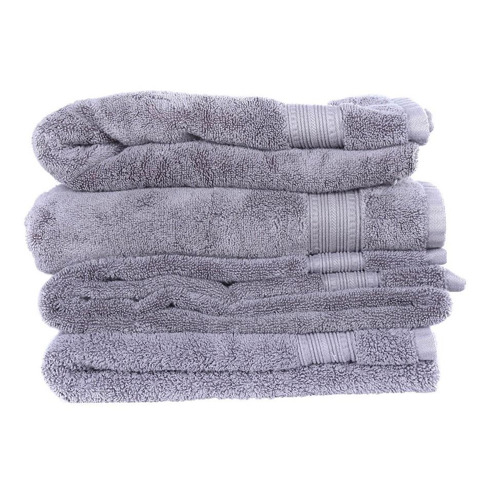 GRANDIOSE Luxury Bath Towels, 76 x 147cm, 100% Hydrocotton, Grey. N.B. 1 x