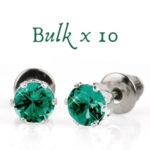 BULK PACK - 10 x 5mm Birthstone Earrings (May) - Great Gift Idea