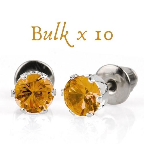 BULK PACK - 10 x 5mm Birthstone Earrings (November) - Great Gift Idea