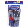 CHAMPION Men`s 5pk Boxer Brief Size S (28-30``), Moisture Wicking & Double