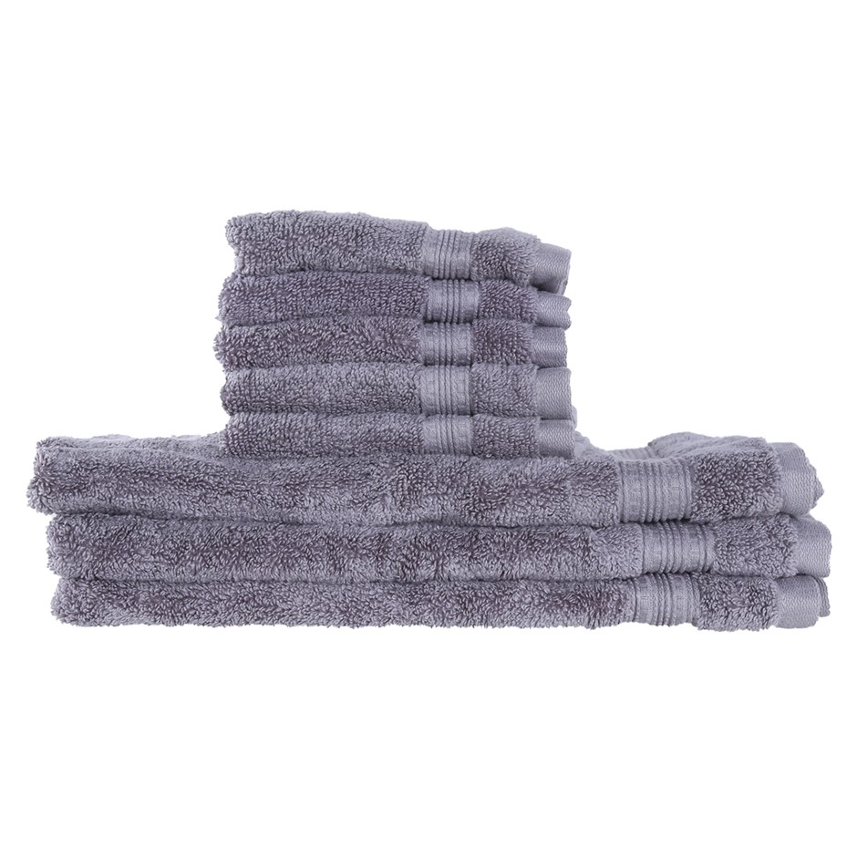 8 x Assorted GRANDIOSE Luxury Towels, 100% Hygrocotton, Comprising: Face &