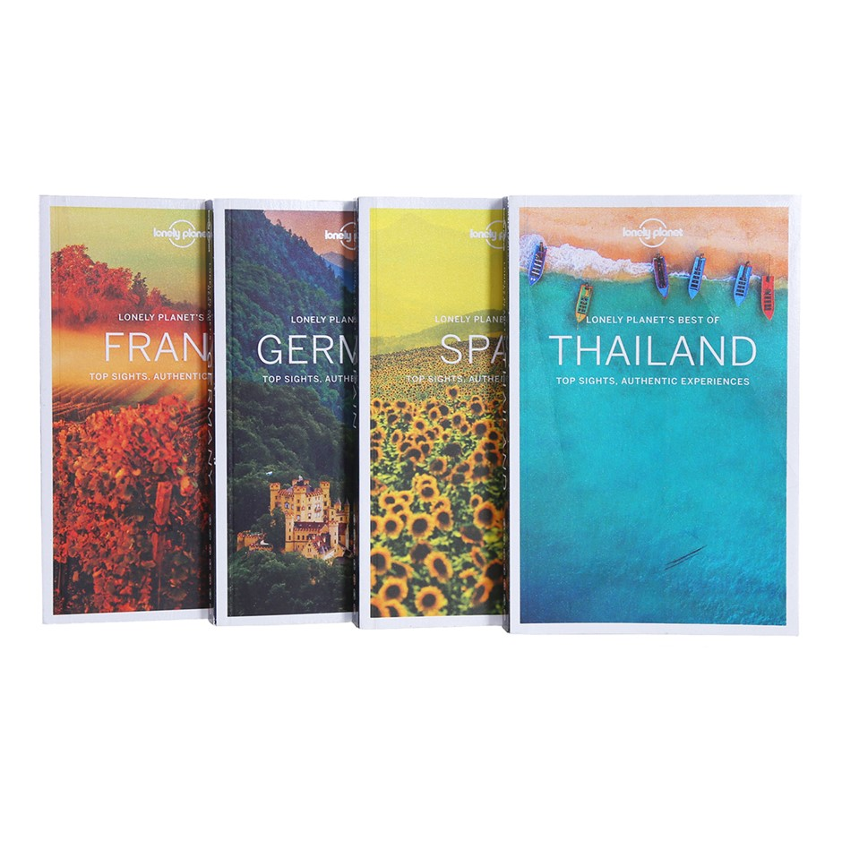 4 x LONELY PLANET `Best of` Books, Comprising: Germany, France, Spain & Tha