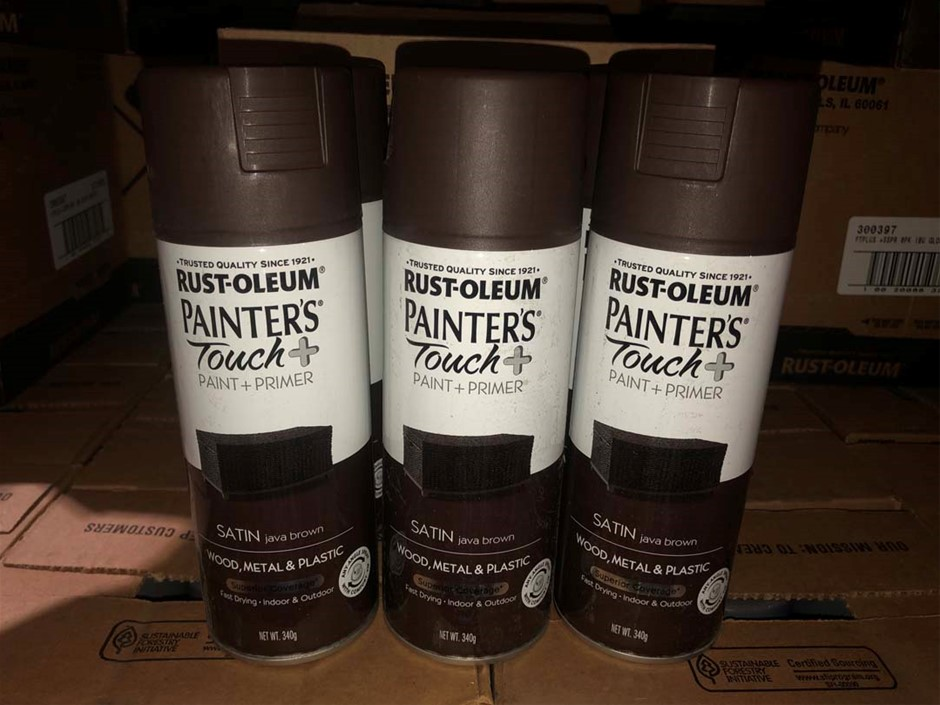 6 x cans Java Brown 'Painter Touch' Spray Paint