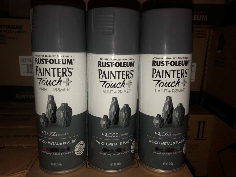 6 x cans Gloss Pewter 'Painter Touch' Spray Paint