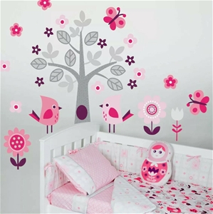 8 x Living Textiles Wall Decals