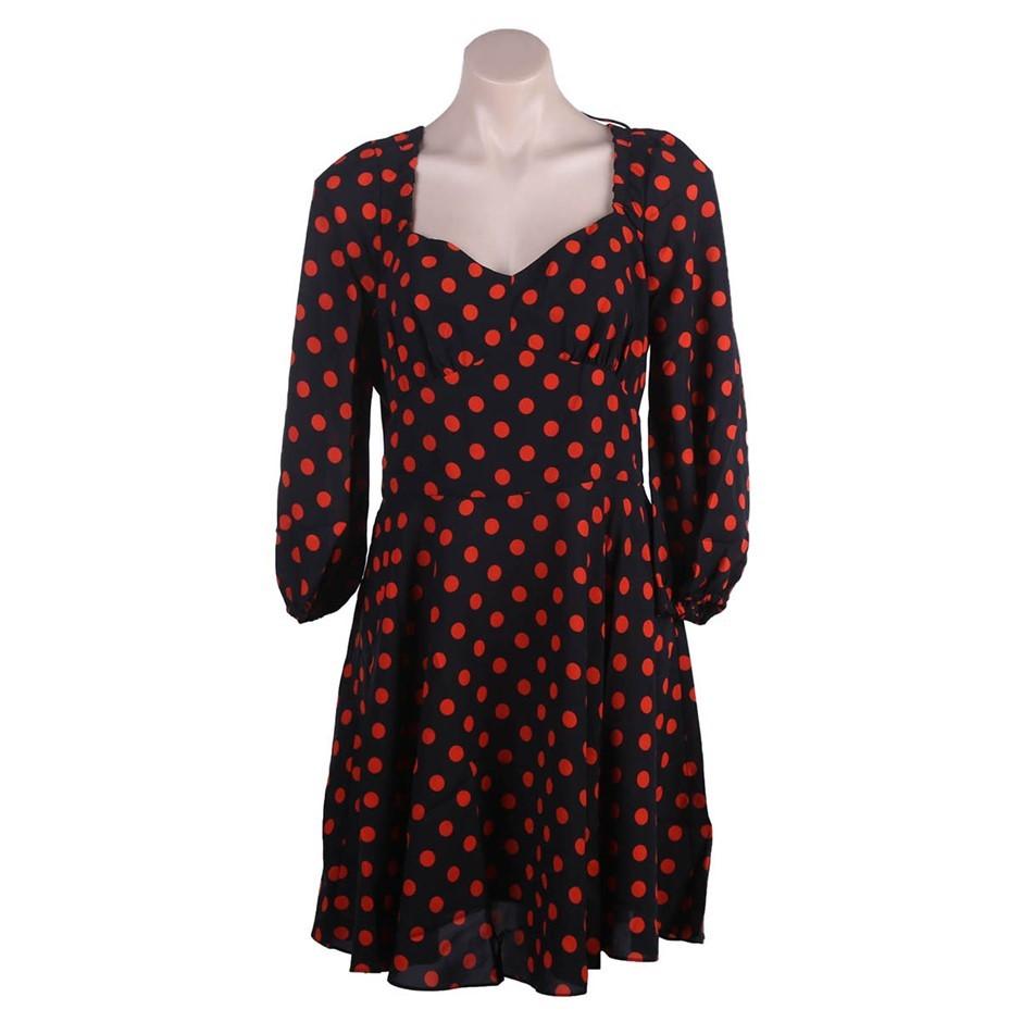 COOPER ST Womens Flashdance Fitted Mini Dress, Tapered Waistline, Size 14,
