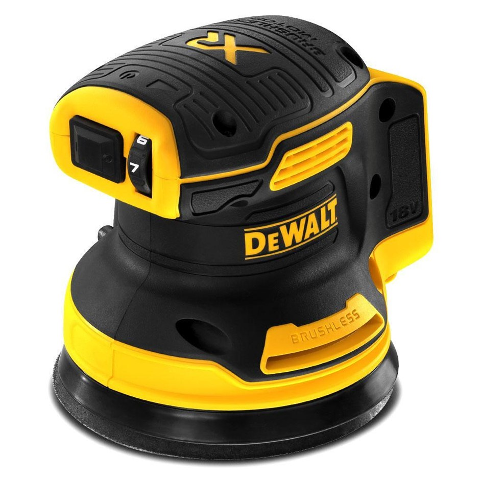 DEWALT 18V XR Li-ion Cordless Brushless 125mm (5``) Random Orbital Sander.