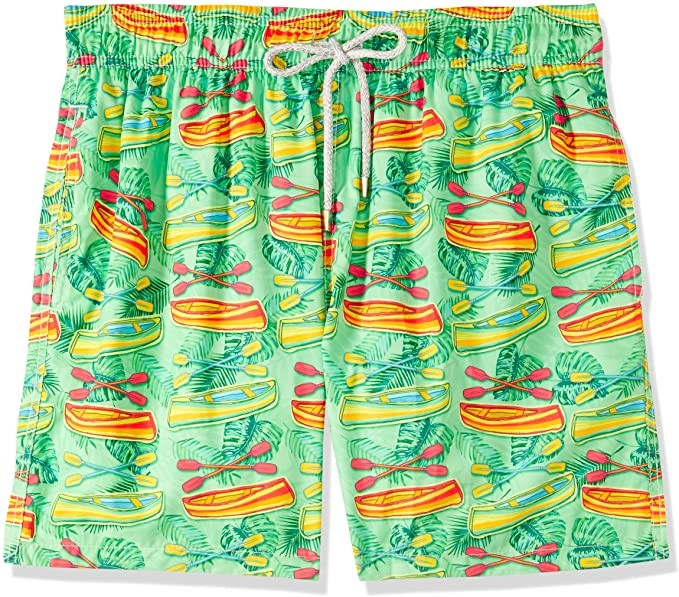 MAKASTIA Mens Funky Rowboat Shorts, Quick Dry Material, Colour Green, Size