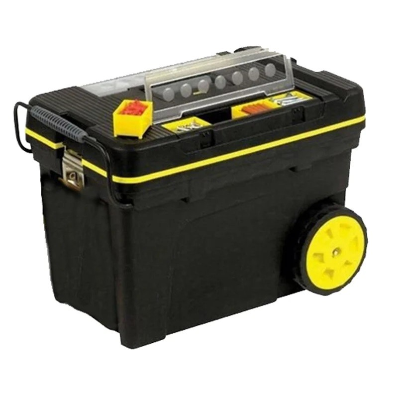 4 x STANLEY Mobile Tool Chest w/ Organisers, Main Compartment, For Heavy Po