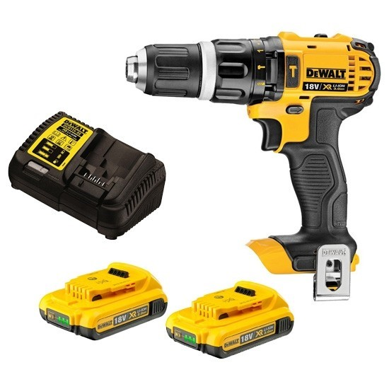DEWALT Hammer Drill Driver 18V Cordless. Complete with 2 1.3 Ah Batteries a