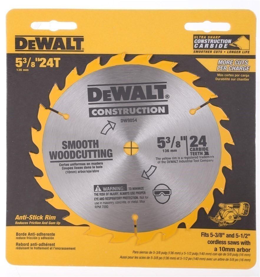 3 x DeWALT Circular Saw Blade Construction 5 3/8`` (136mm), 24-Carbide Teet