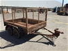 <p>Tandem Axle Box Trailer with Mesh Sides</p>