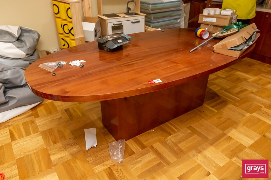 Timber Oval Board Room Table