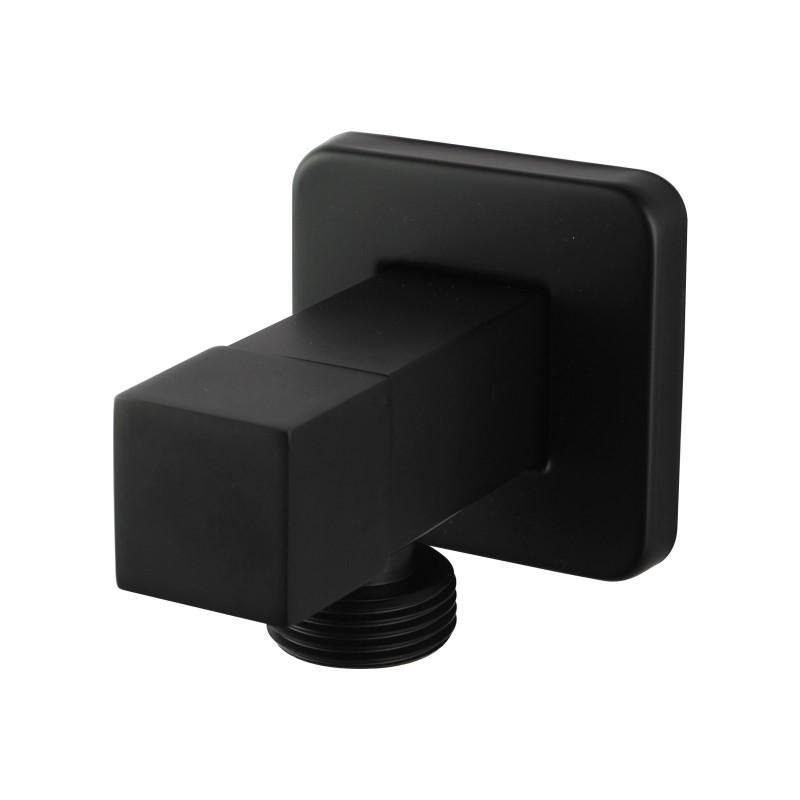 Laundry Square Black Bathroom square 1/4 turn washing machine stop tap