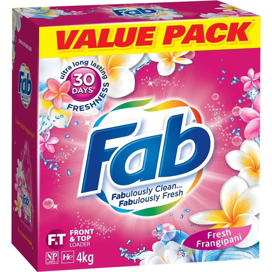 FAB Front & Top Loader, Fresh Frangipani, 4kg. (SN:B02Z1885) (278402-212)