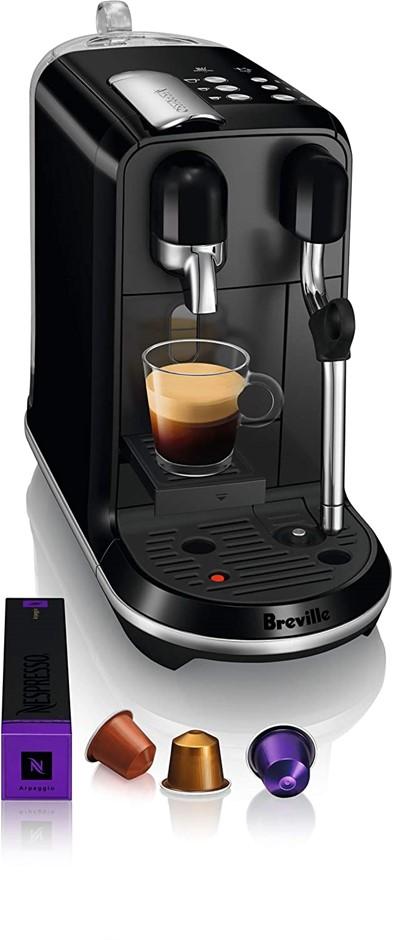 THE BREVILLE Nespresso Creatista Uno Coffee Machine, Black, 41.4 x 16.8 x 3