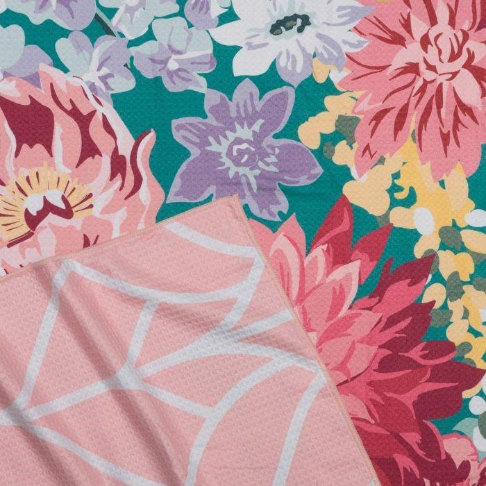 ONKAPARINGA 4-in-1 Sand Free Beach Towel, 80 x 160cm, Floral. (SN:CC71092)