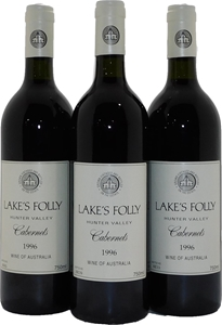 Lakes Folly Cabernets 1996 (3x 750mL), H
