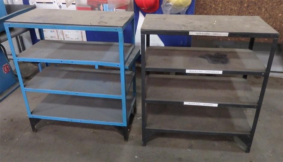 3 x 4 Tier Steel Shelving Units