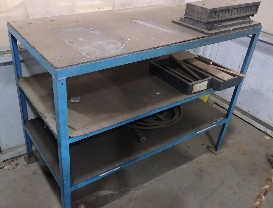 2 x Assorted Steel Work Benches