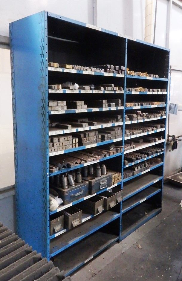 Steel Cabinet and Contents of Assorted Broaches