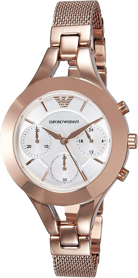 Stunning new Emporio Armarni rose gold plated ladies watch