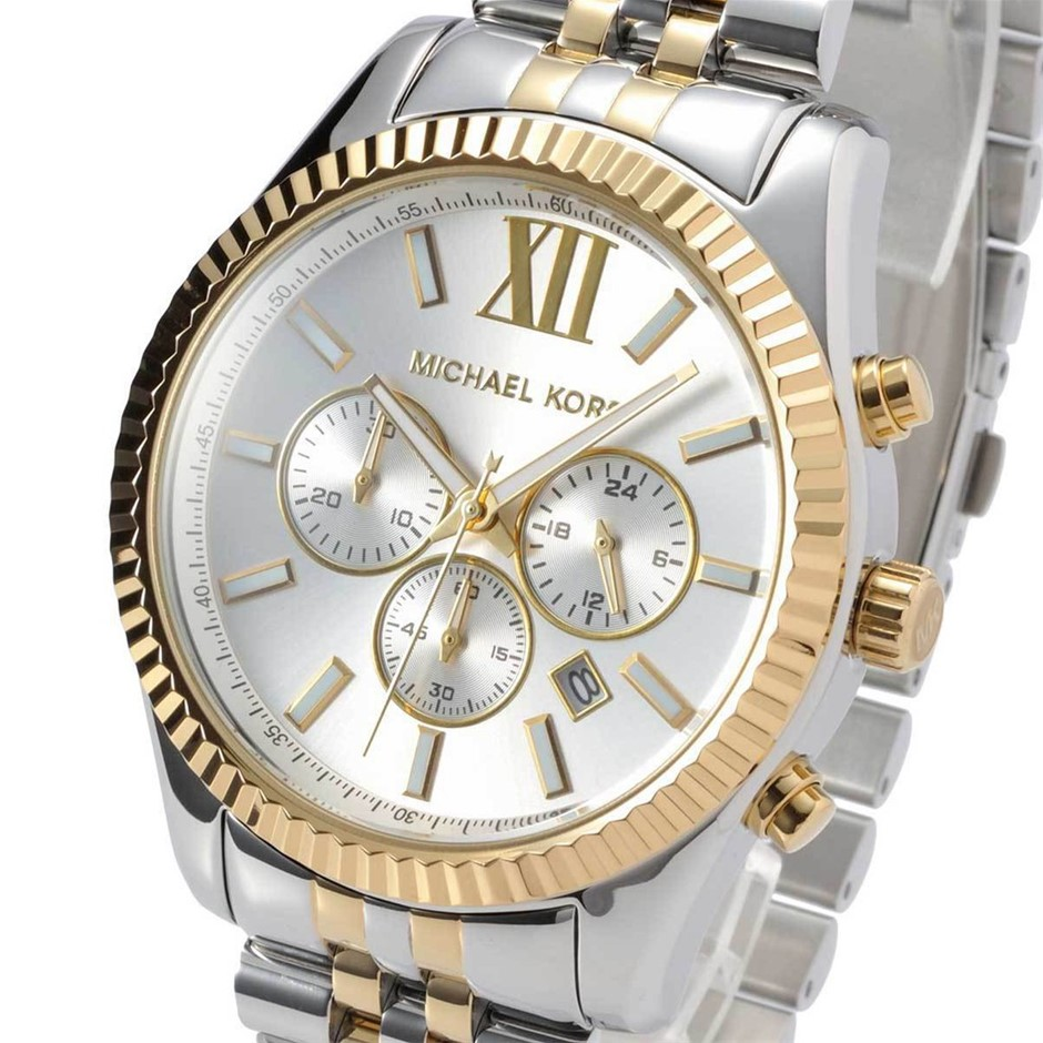 Stylish new Michael Kors Two Tone Chronograph men's watch.